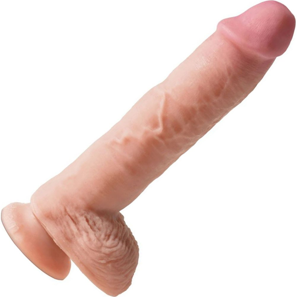 "Pipedreams King Cock Dual Density Fat Cock Dildo 10"" Flesh - View #2"