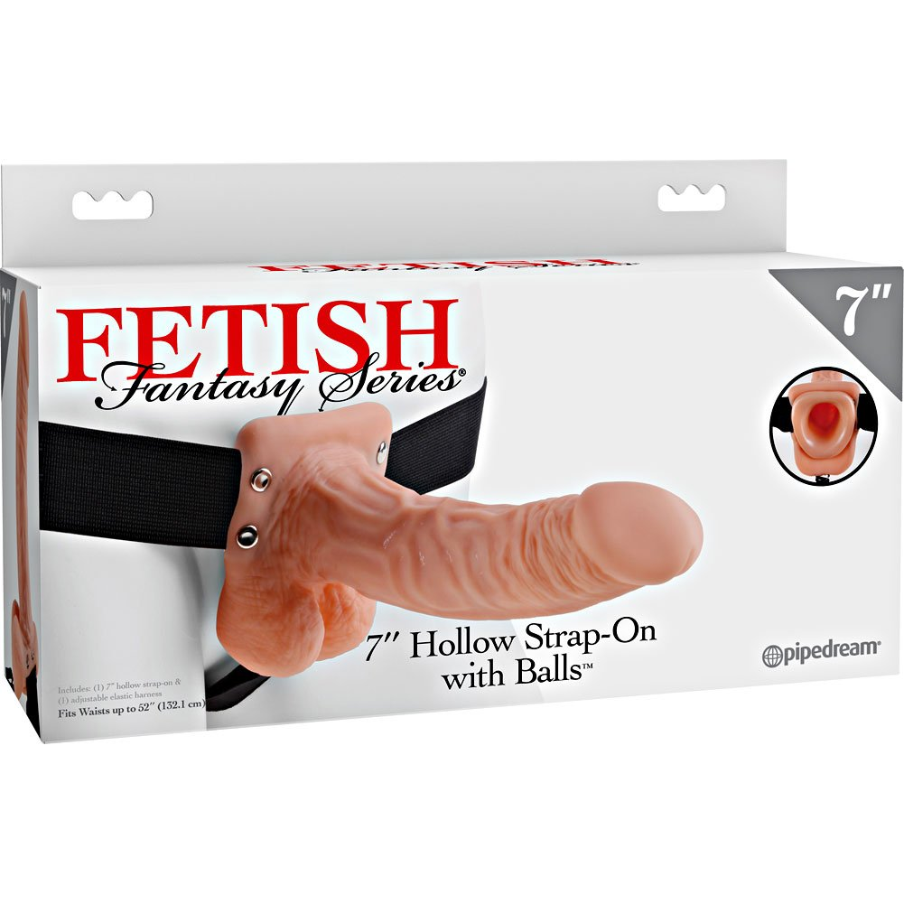 "Pipedream Fetish Fantasy Series Realistic Hollow Strap-On Dong 7"" Natural Flesh - View #4"