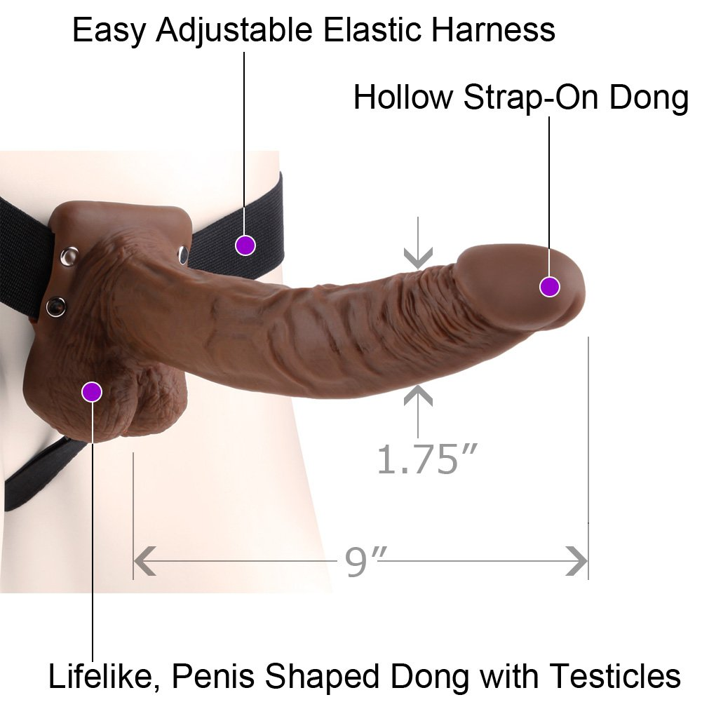 realistic strap on hollow cock