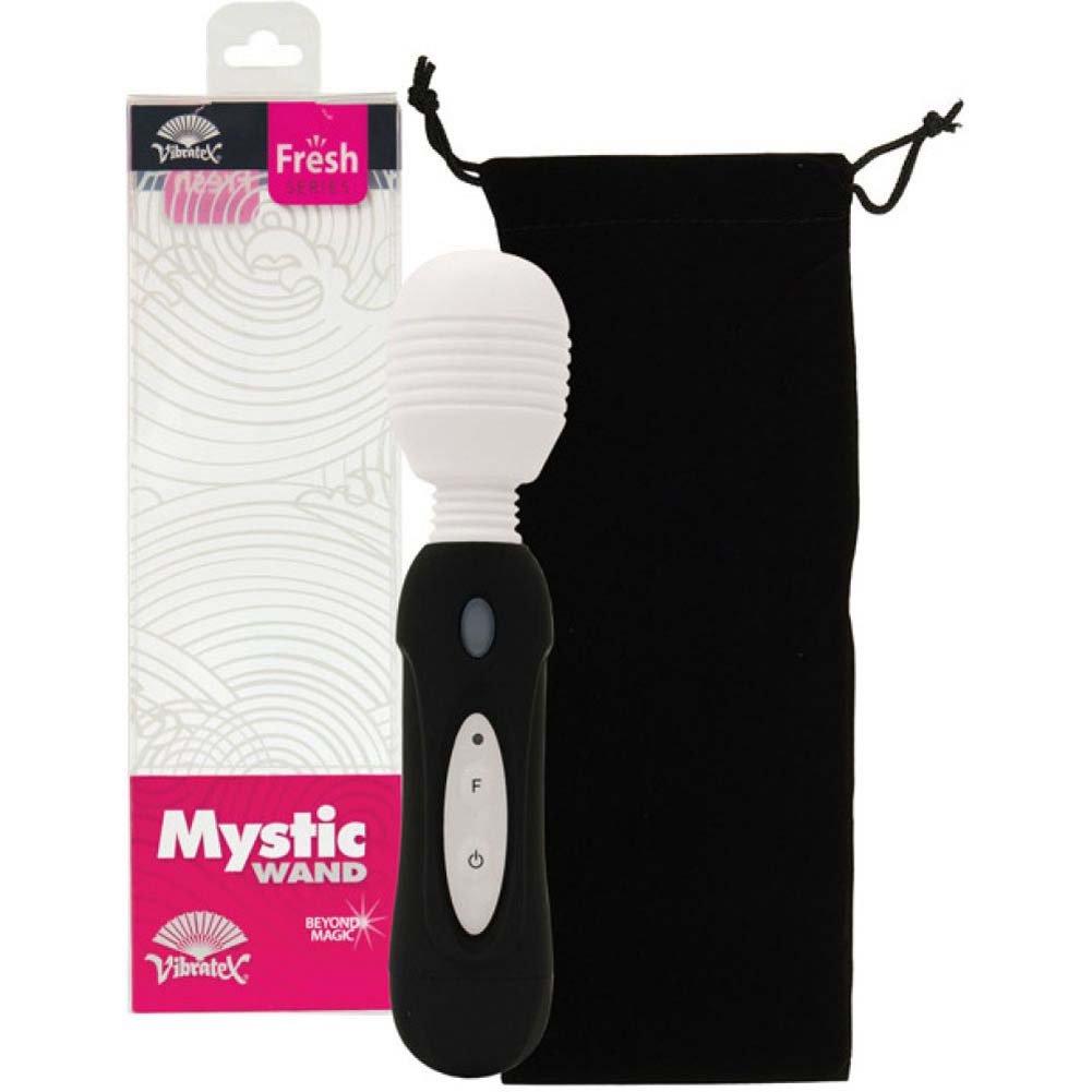 """Vibratex Silicone Mystic Wand Vibrator 8.25"""" Black - View #1"""