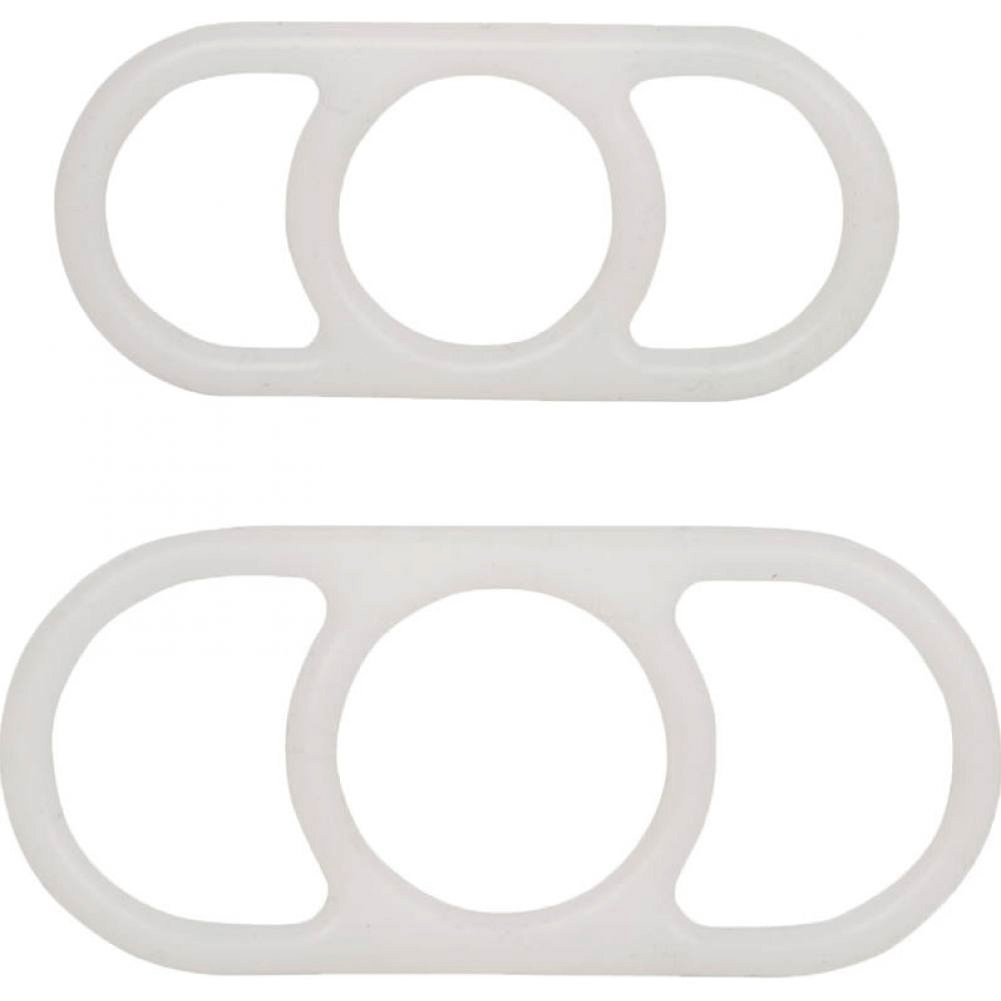 California Exotics Erection Enhancer Penis Pump Rings Pack of 2 White - View #2