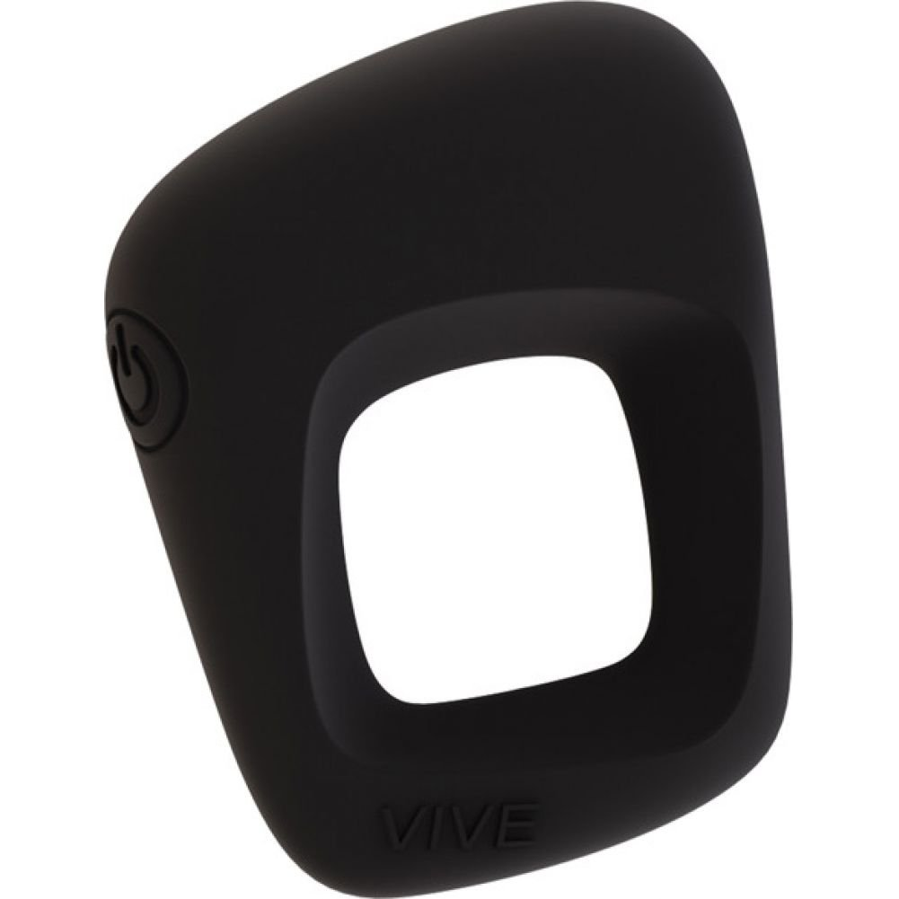 VIVE Senca Rechargeable Silicone Vibrating Cock Ring Black - View #2