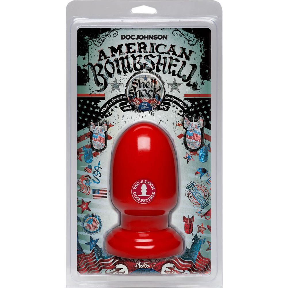 "Doc Johnson American Bombshell Shell Shock Cherry Bomb Anal Plug 6"" Red - View #1"