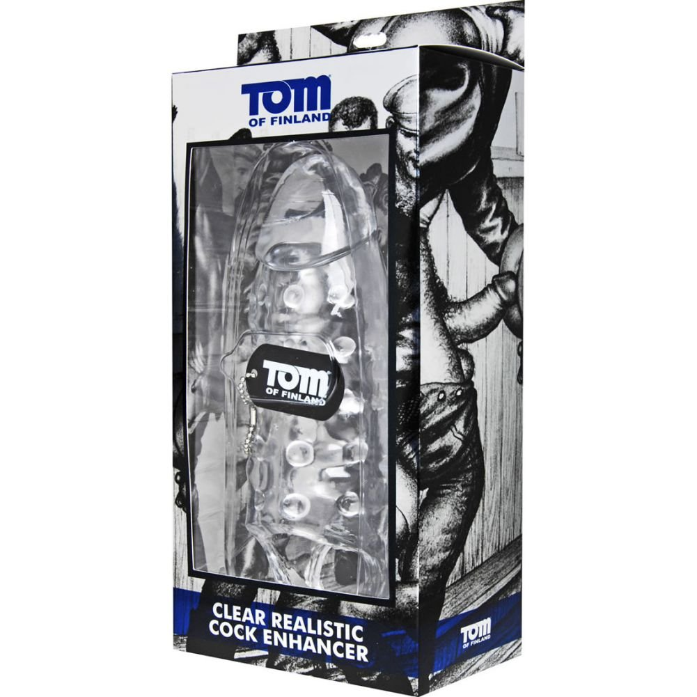 "XR Brands Tom of Finland Realistic Cock Enhancer 9.5"" Clear - View #1"
