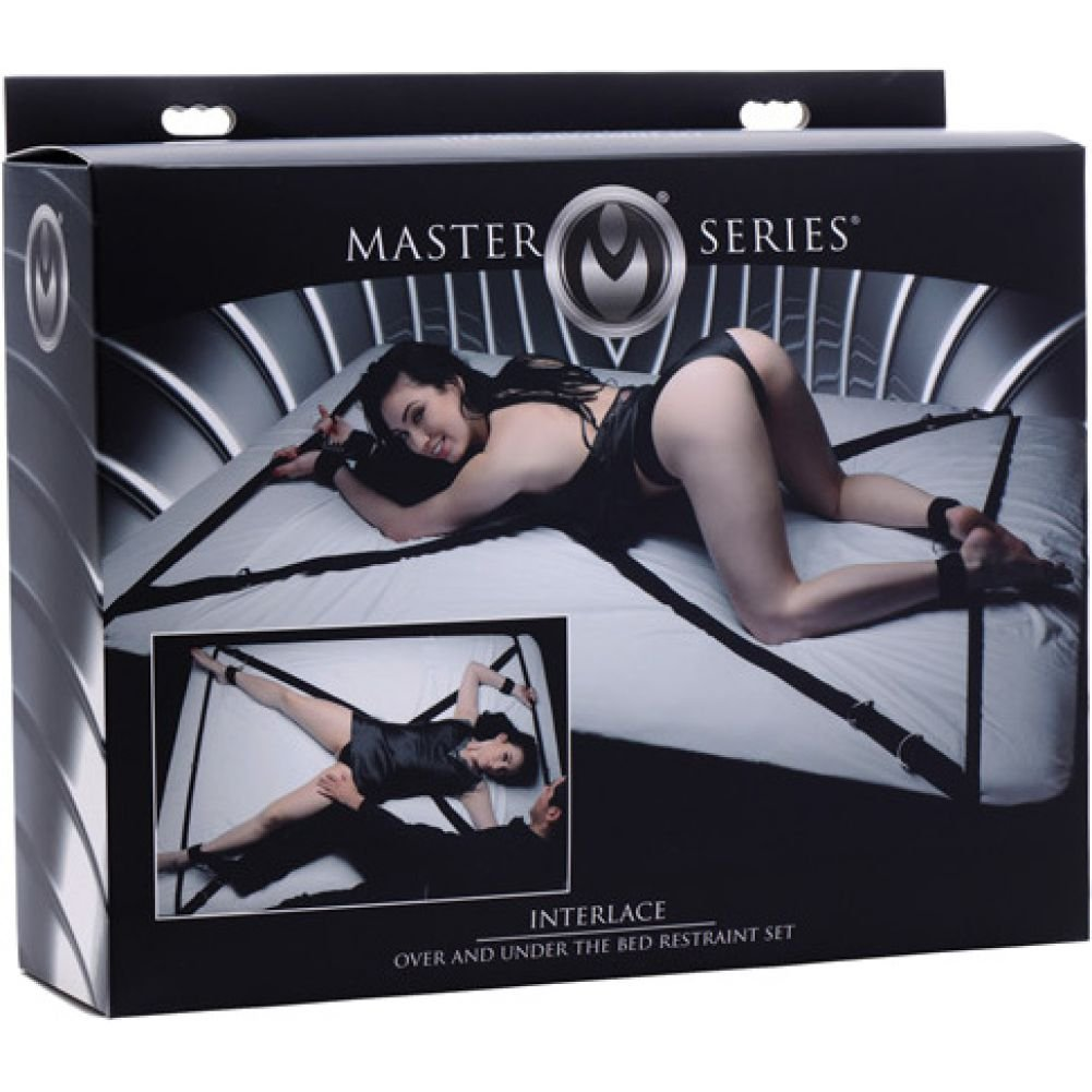 Master Series Interlace Over Under the Bed Restraint Set - View #1