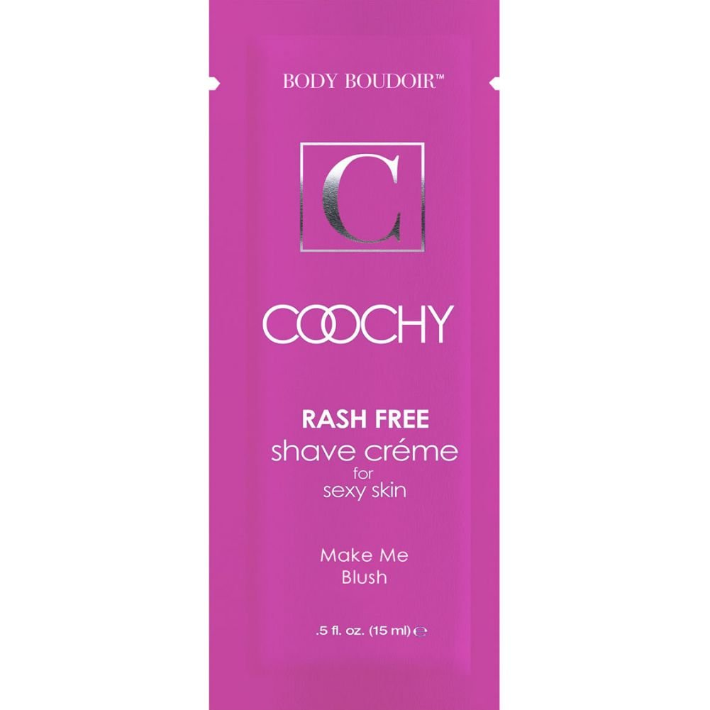 Coochy Shave Creme Make Me Blush 0.5 Oz 15 mL Foil Display of 24 Packets - View #1