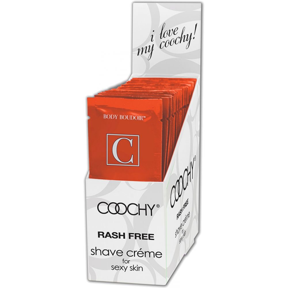 Coochy Shave Creme Tropical 0.5 Fl.Oz 15 mL Foil Display of 24 Packets - View #2