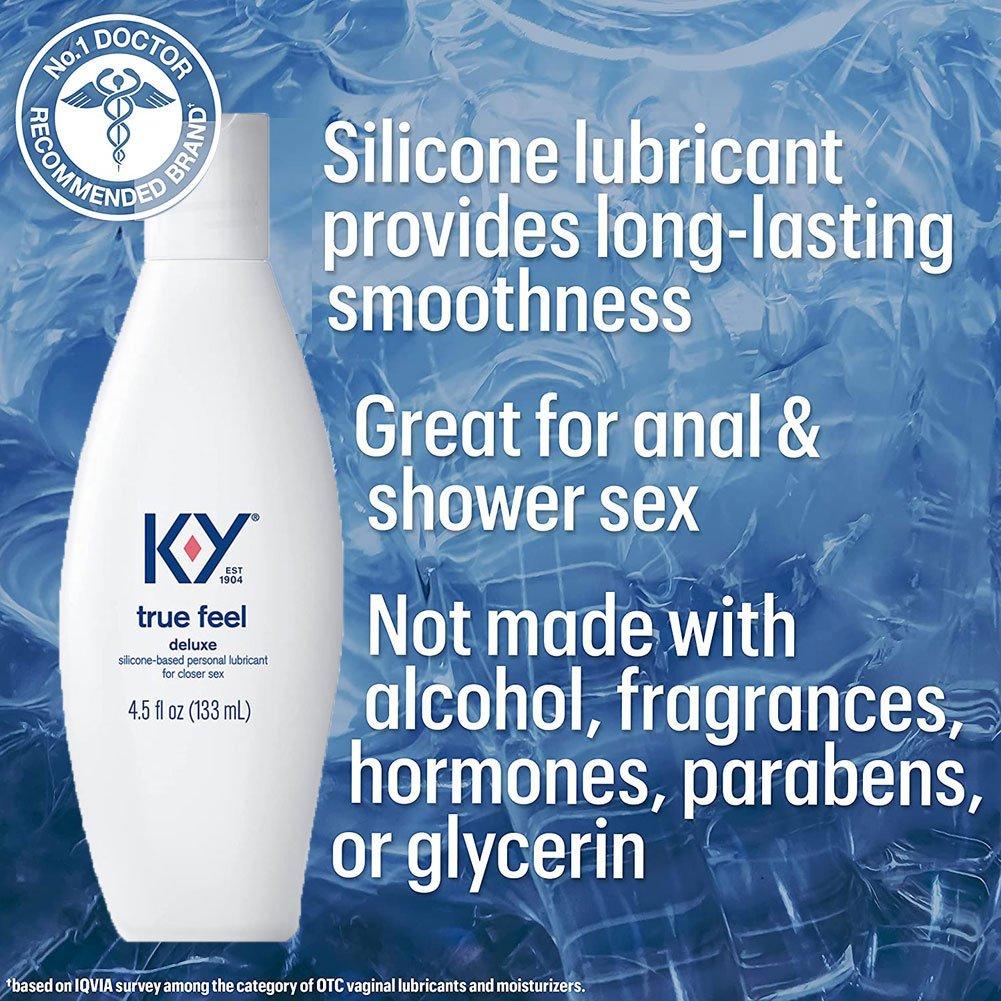 K Y True Feel Premium Silicone Lubricant 4.5 Fl.Oz 133 mL - View #1