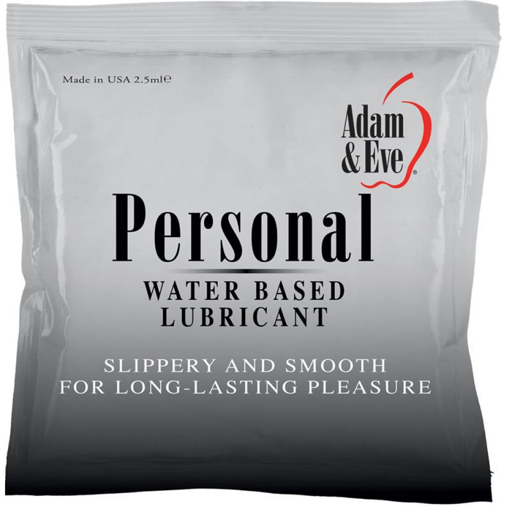 Adam and Eve Personal Water-Based Lubricant 2.5 mL Foil Pack - View #1