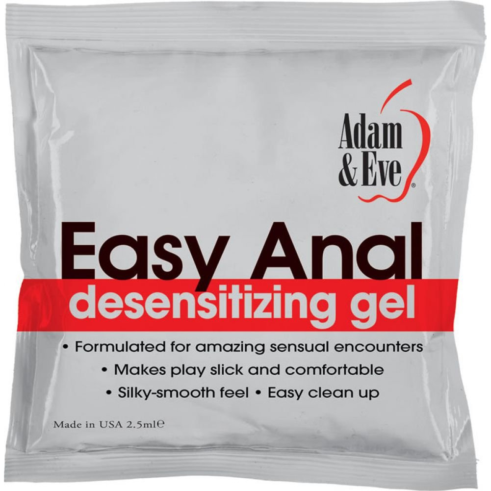 Adam and Eve Easy Anal Desensitizing Gel 2.5 mL Foil Pack - View #1