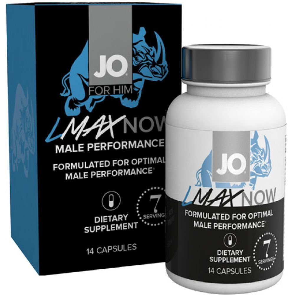 System JO Lmax Now Male Performance Supplement 14 Capsules Per Bottle - View #1