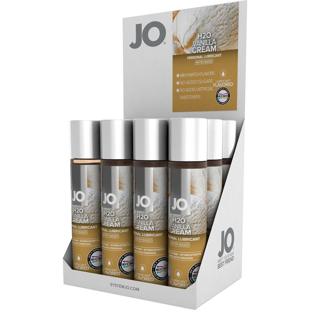 System JO H2O Flavored Lubricant Water-Based Vanilla Cream 1 Oz 12 Per Display - View #2