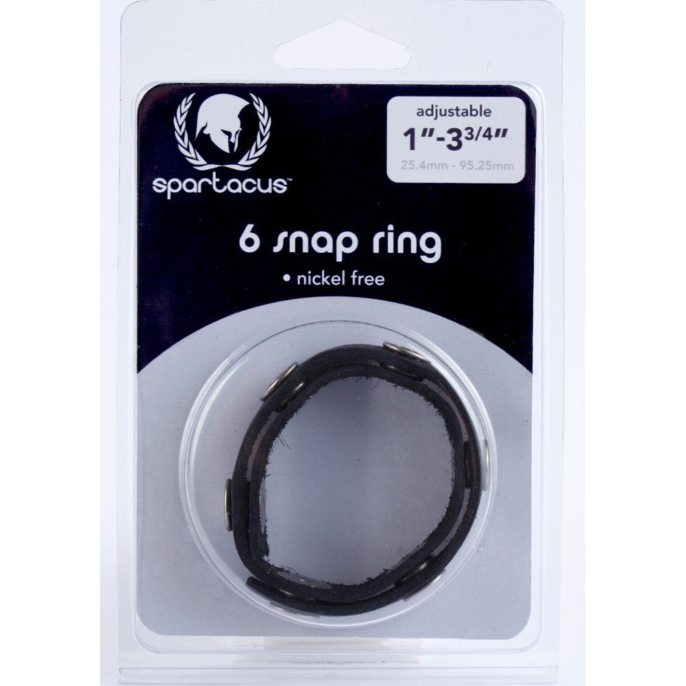 Spartacus 6 Snap Cock Ring Black - View #1