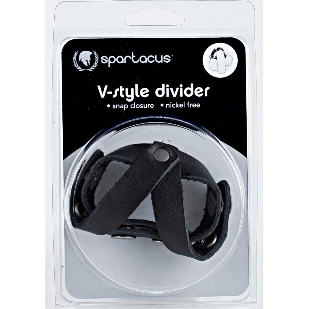 Spartacus V Style Cock and Ball Divider Black - View #1