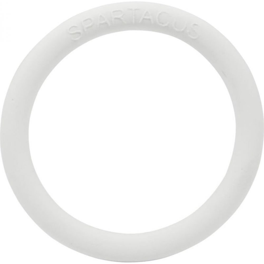"Spartacus Rubber Cock Ring 1.5"" White - View #2"