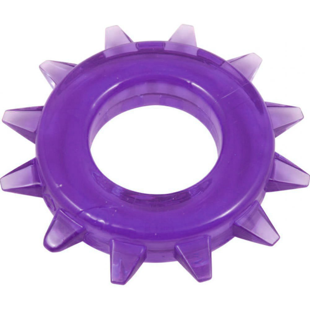 Spartacus Elastomer Stud Cock Ring Purple - View #2
