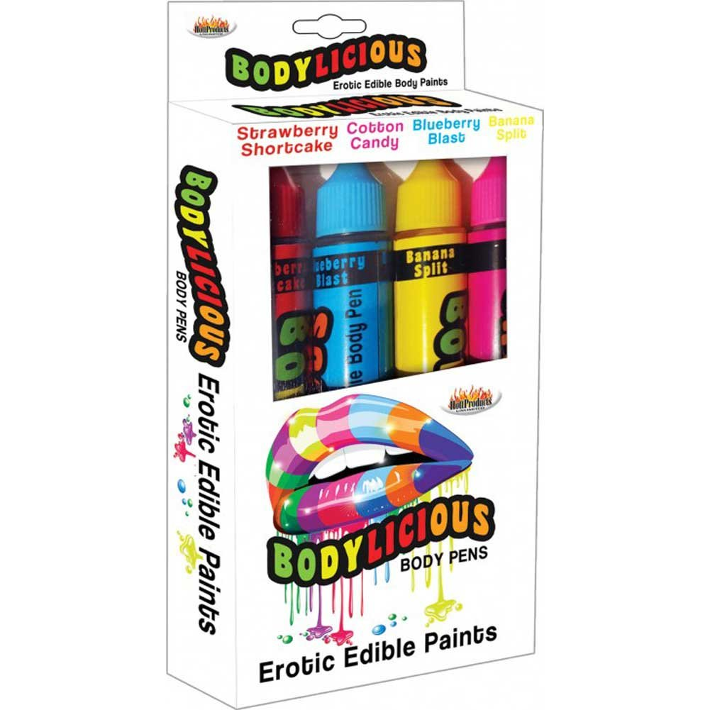 Hott Products Bodylicious Edible Body Pens Pack of 4 - View #1