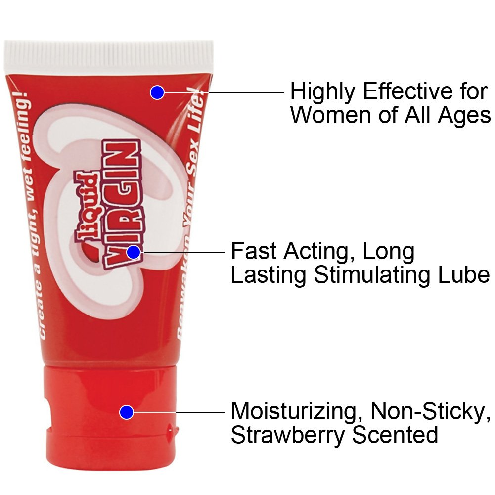 Liquid Virgin Vaginal Water-Based Lubricant for Women 1 Ounce Strawberry - View #1