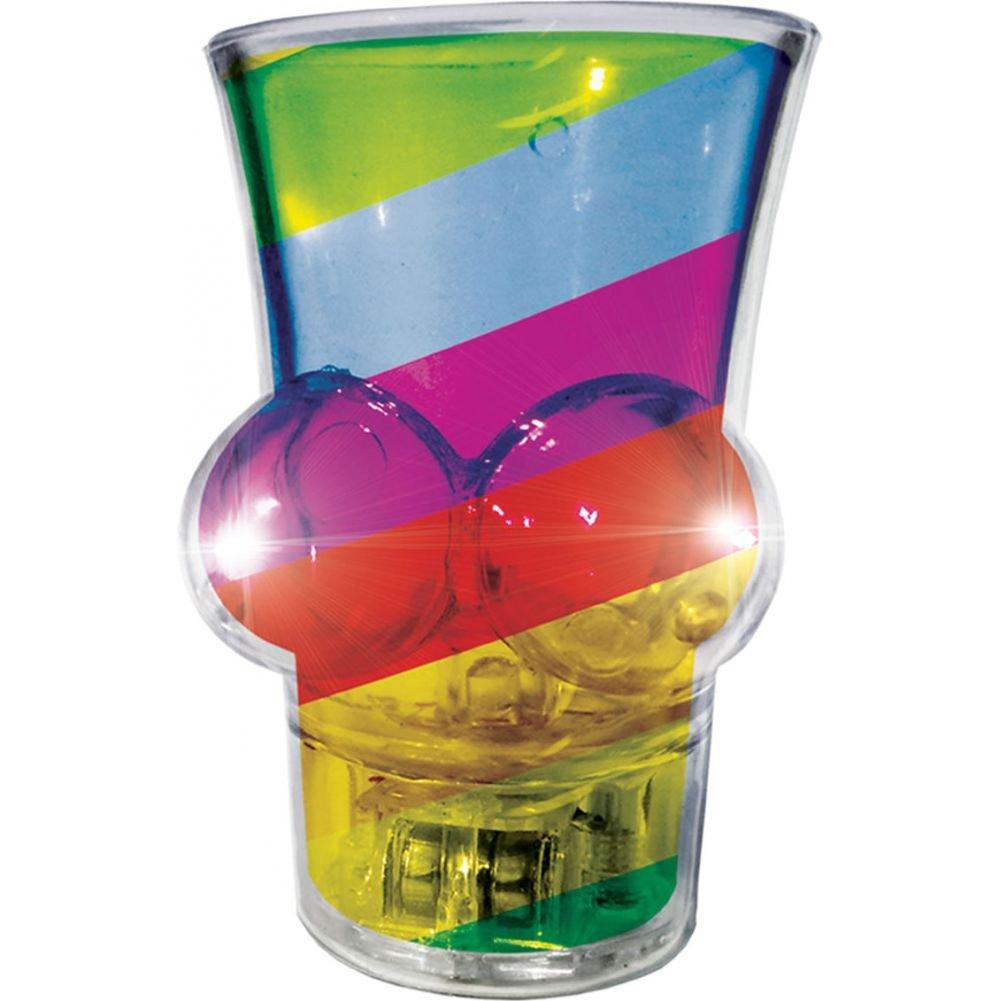 Hott Products Light Up Rainbow Boobie Shot Glass - View #2