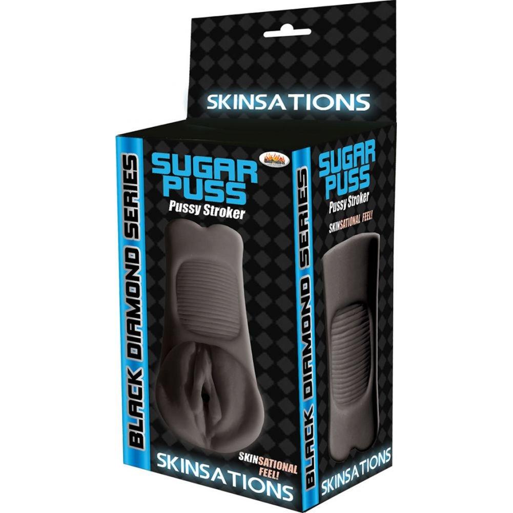 Hott Products Skinsations Sugar Puss Stroker Masturbator Ebony - View #1
