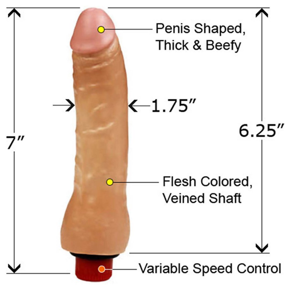 "Doc Johnson Naturals Twist Bottom Thin Dong 7"" Ivory Flesh - View #1"