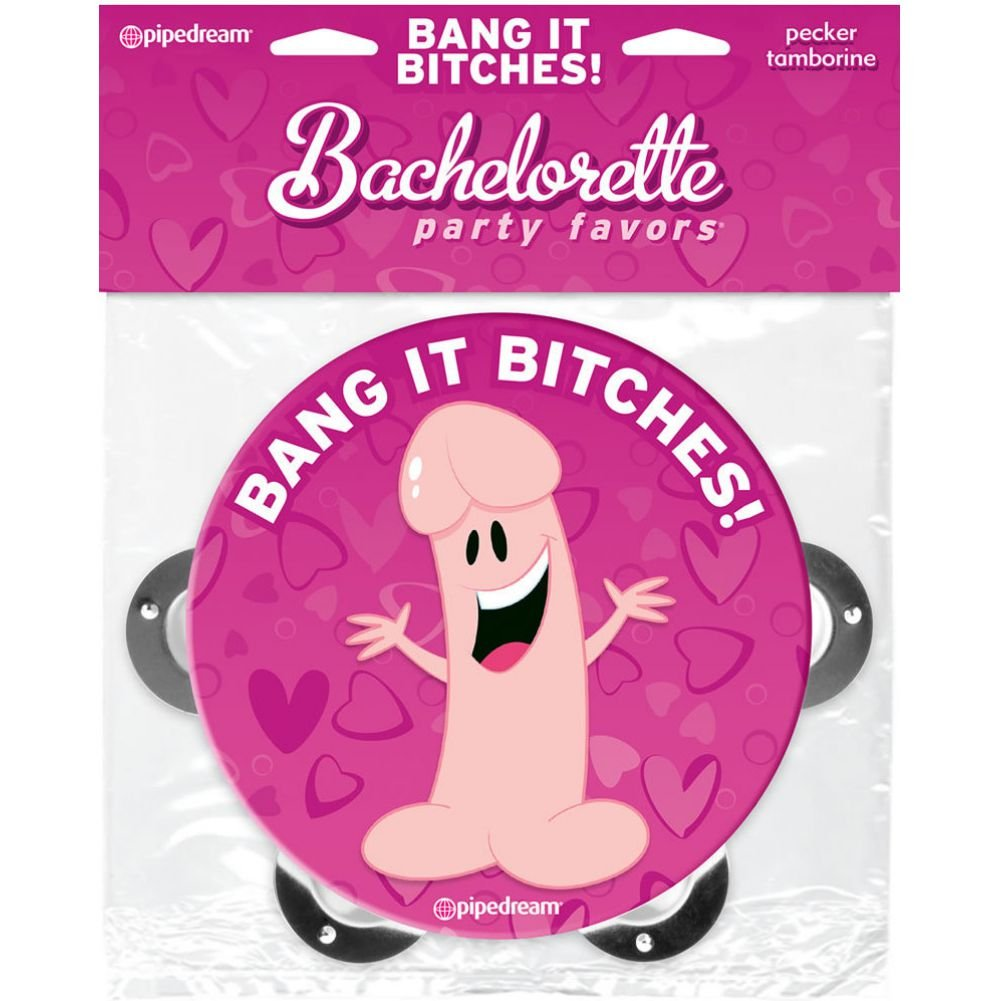 Pipedream Bachelorette Party Favors Bang It Bitches Pecker Tamborine - View #1