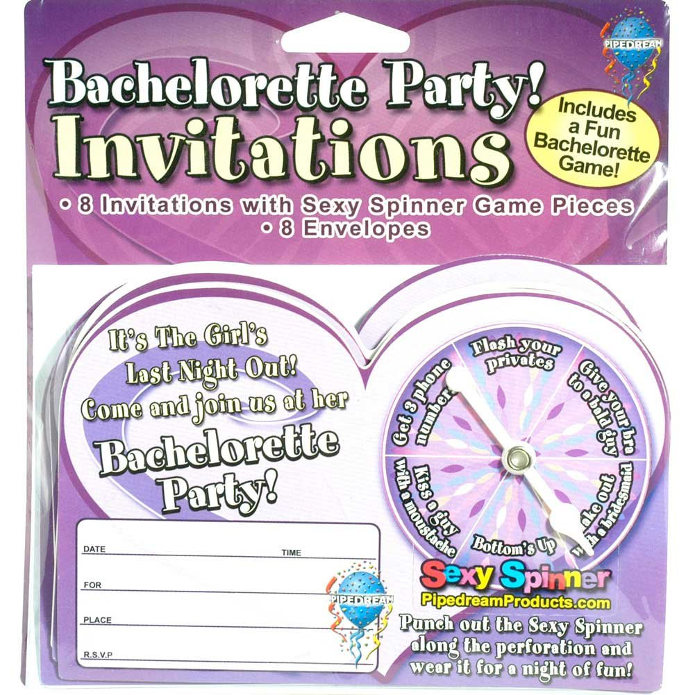 Pipedream Bachelorette Party Favors Sexy Spinner Invitations - View #1
