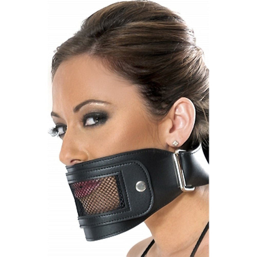 Pipedream Fetish Fantasy 3 Piece Leather Muzzle Set Black - View #4