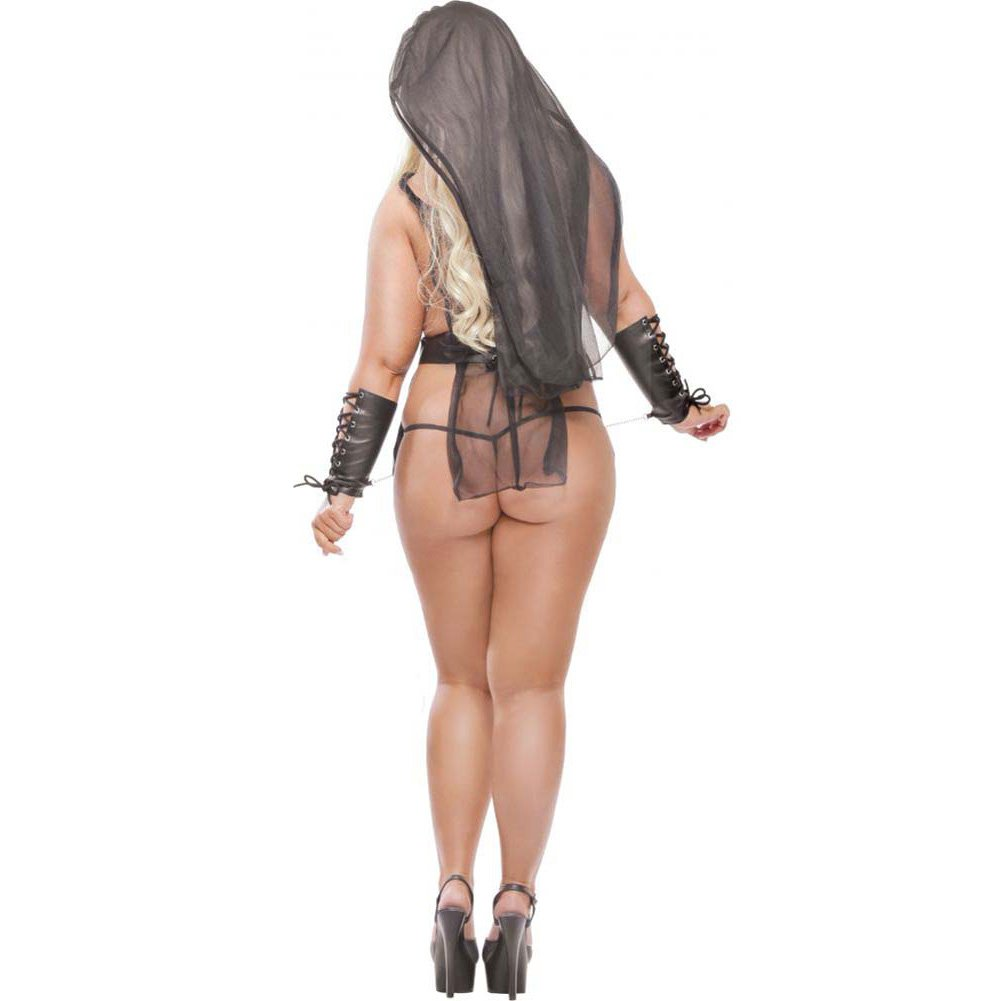 Fetish Fantasy Lingerie Pharoahs Slave Kit Queen Size Black - View #2