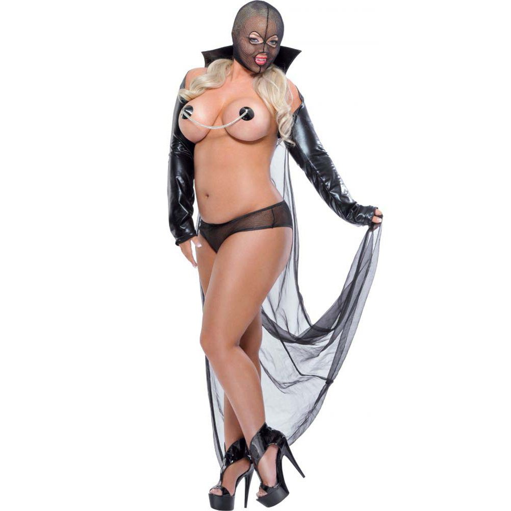 Fetish Fantasy Lingerie Twilight Night Costume Queen Black - View #1