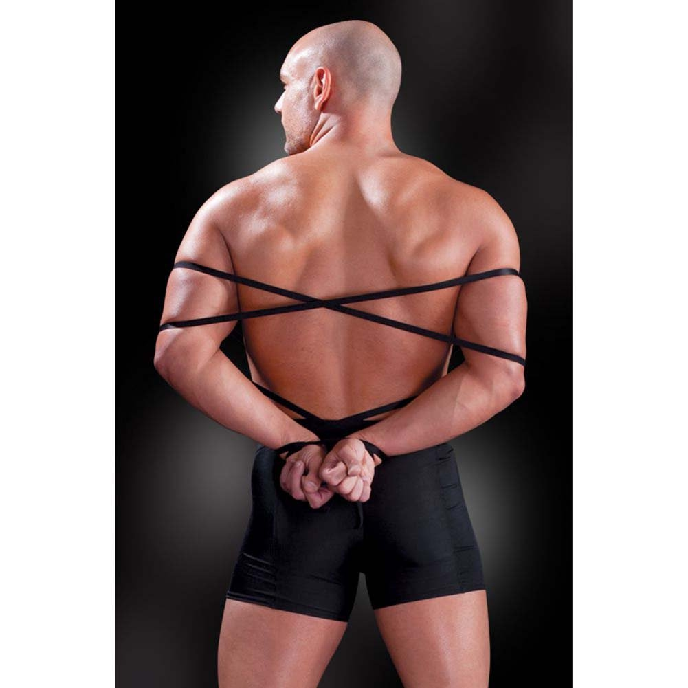 Fetish Fantasy Lingerie Tie Me Up Boxer Set for Men 2XL/3XL Black - View #2