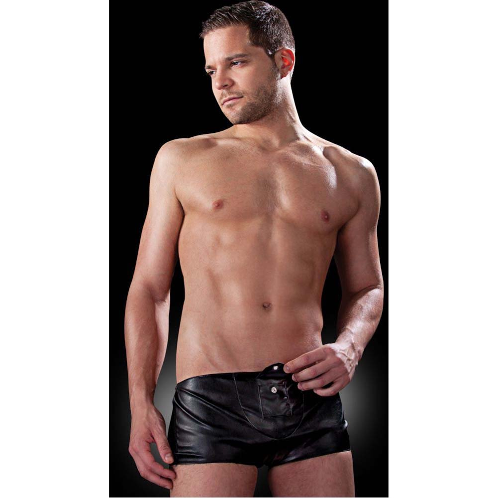 Fetish Fantasy Lingerie Hidden Pocket Brief for Men Small/Medium Black - View #3