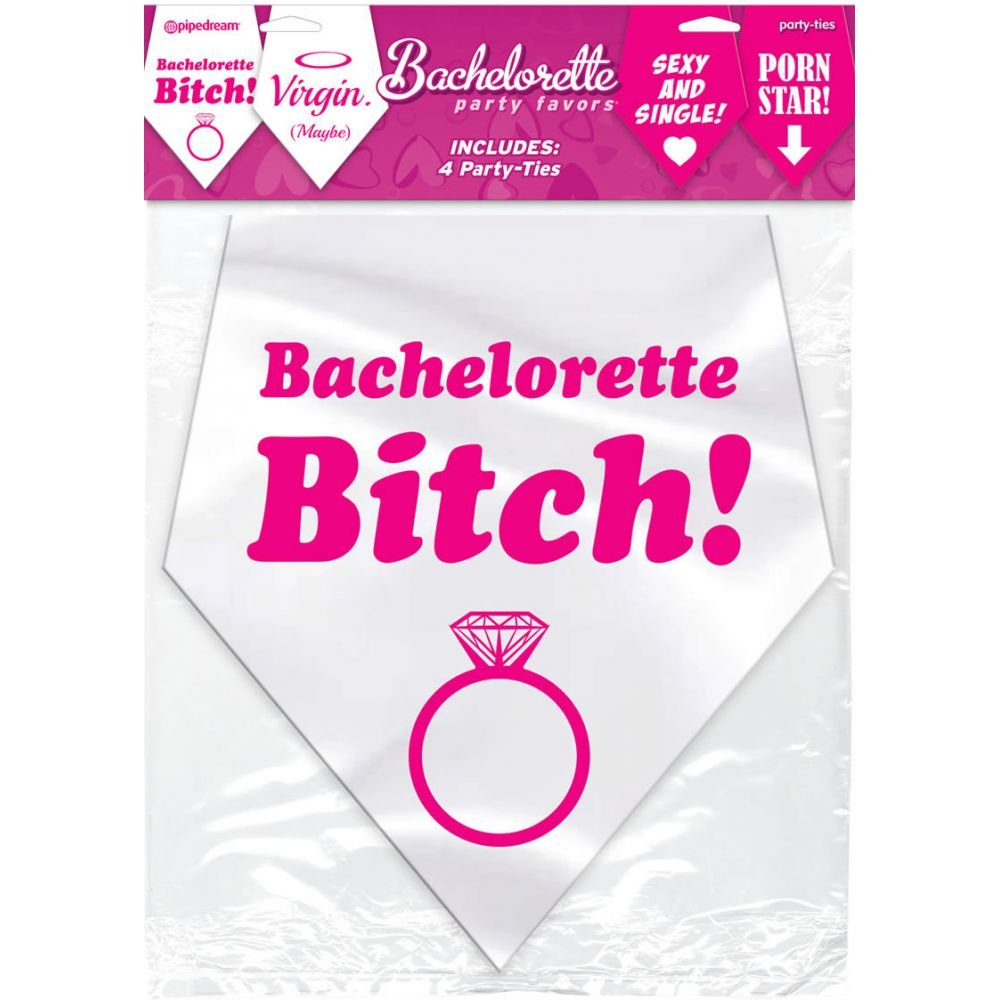 Pipedream Bachelorette Party Favors Party Ties Pack of 4 - View #1