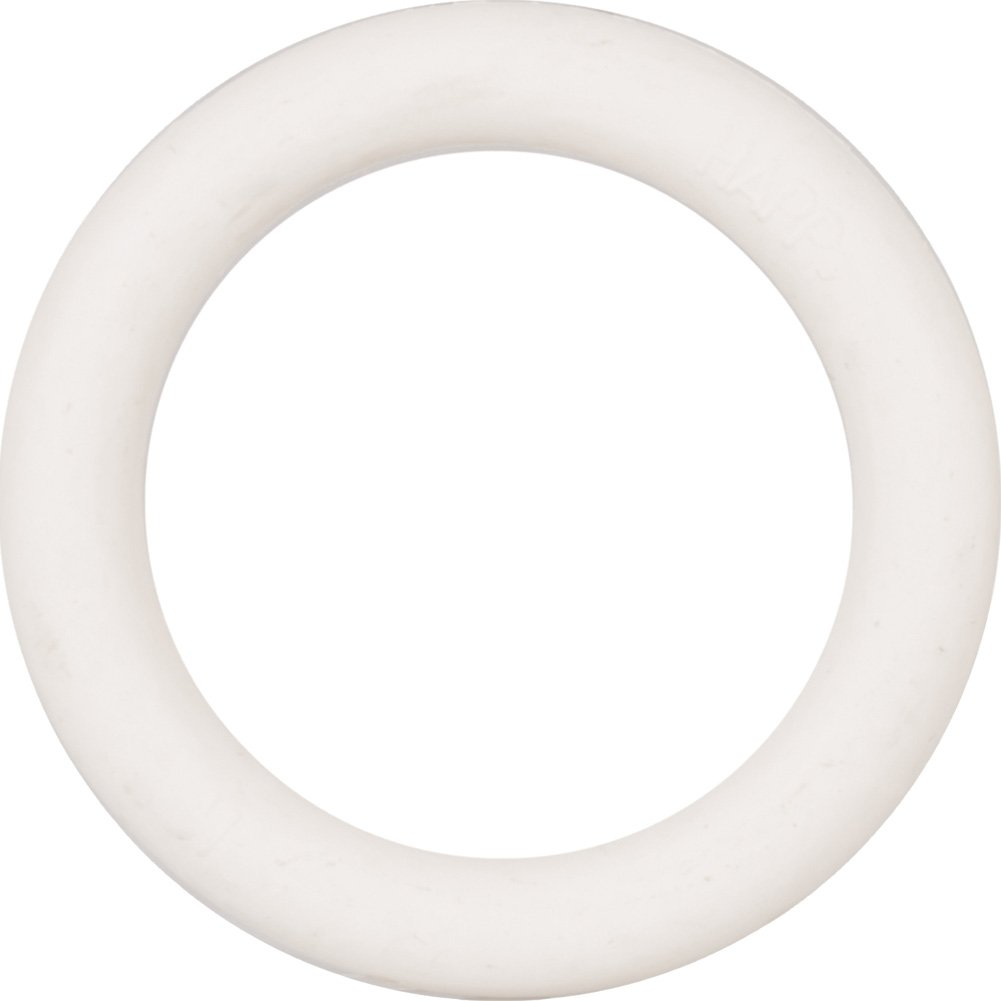 "CalExotics Small Rubber Cock Ring 1.25"" White - View #2"