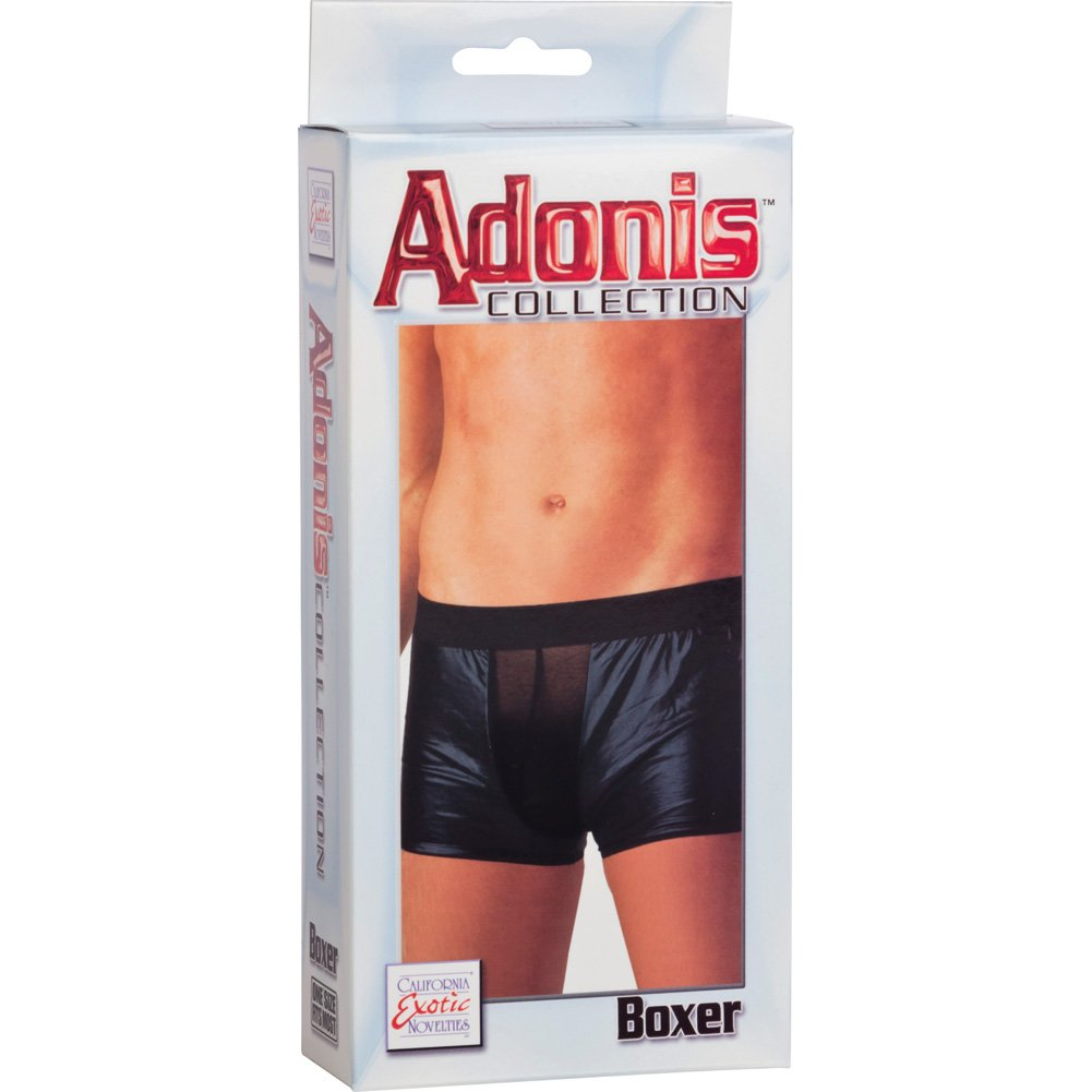 CalExotics Adonis Mens Wet Look Collection Boxer Black OS - View #1