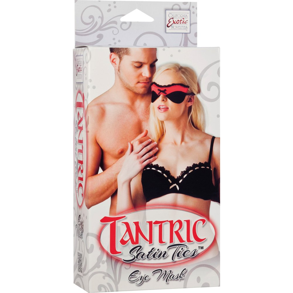Tantric Satin Ties Eye Mask by CalExotics One Size Red/Black - View #1