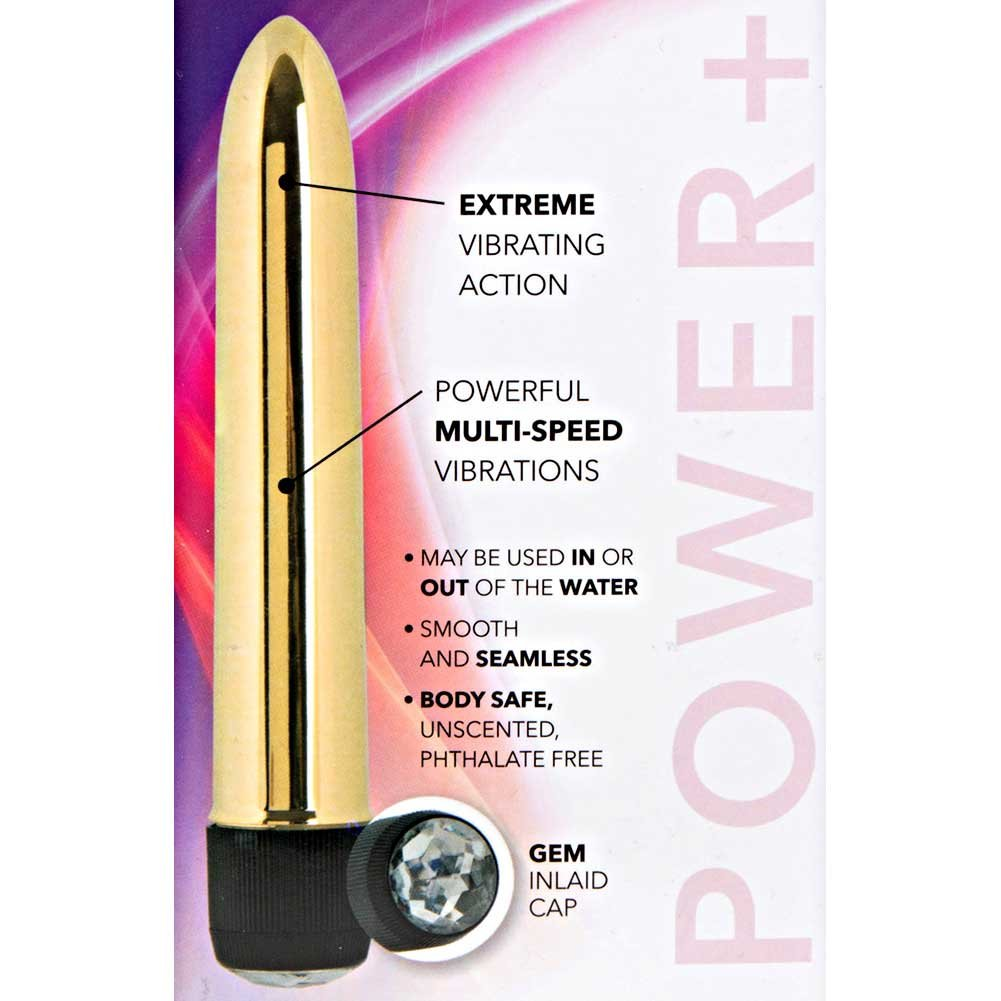 "Precious Metal Gems Power Plus Vibrator by CalExotics 6.75"" Bronze - View #1"