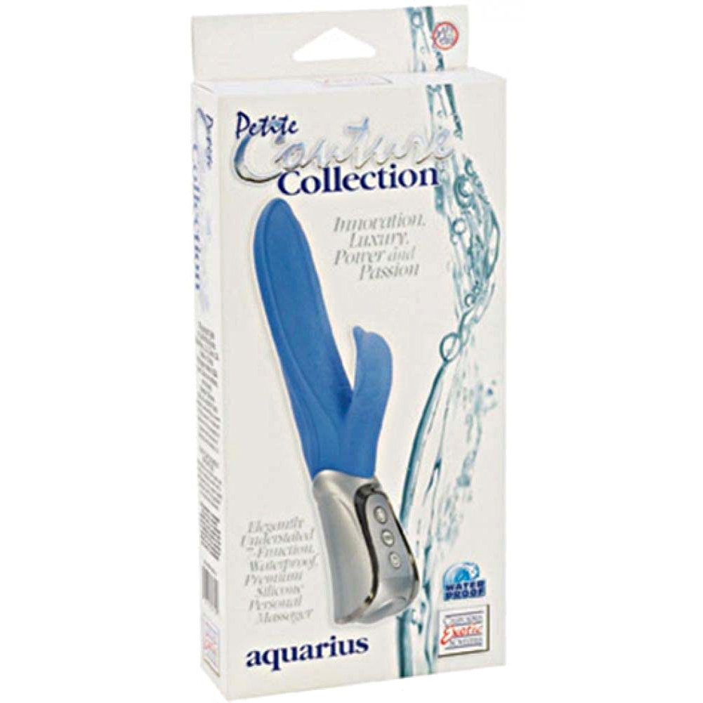 "Couture Collection Aquarius Petite Vibrator by CalExotics 9"" Blue - View #1"