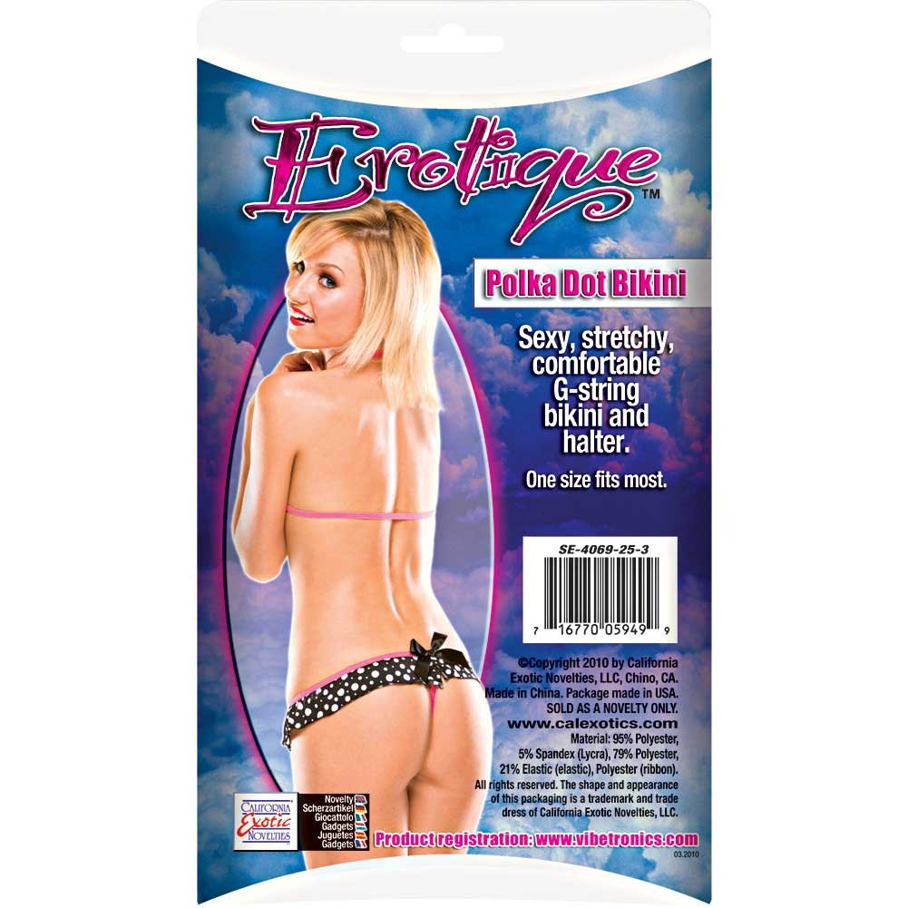Erotique Polka Dot Bikini by CalExotics One Size Black/White/Pink - View #1