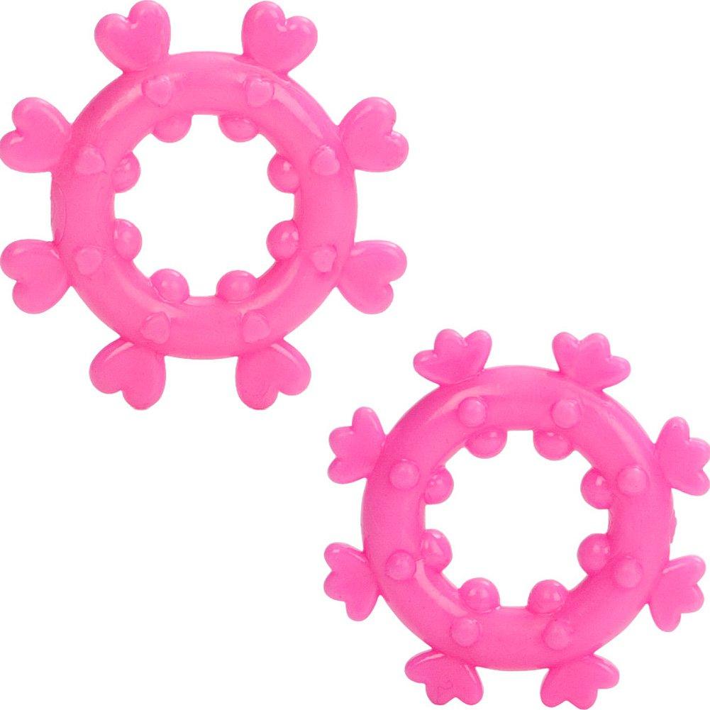 CalExotics Magic Love Rings Cockring 2 Per Pack Pink - View #2