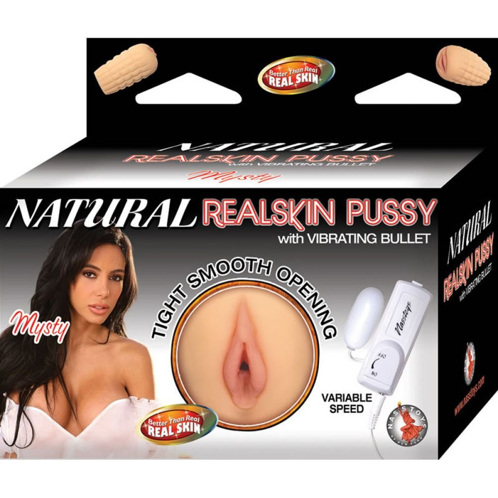 Nasstoys Natural Realskin Pussy Mysty Masturbator with Vibrating Bullet Flesh - View #1