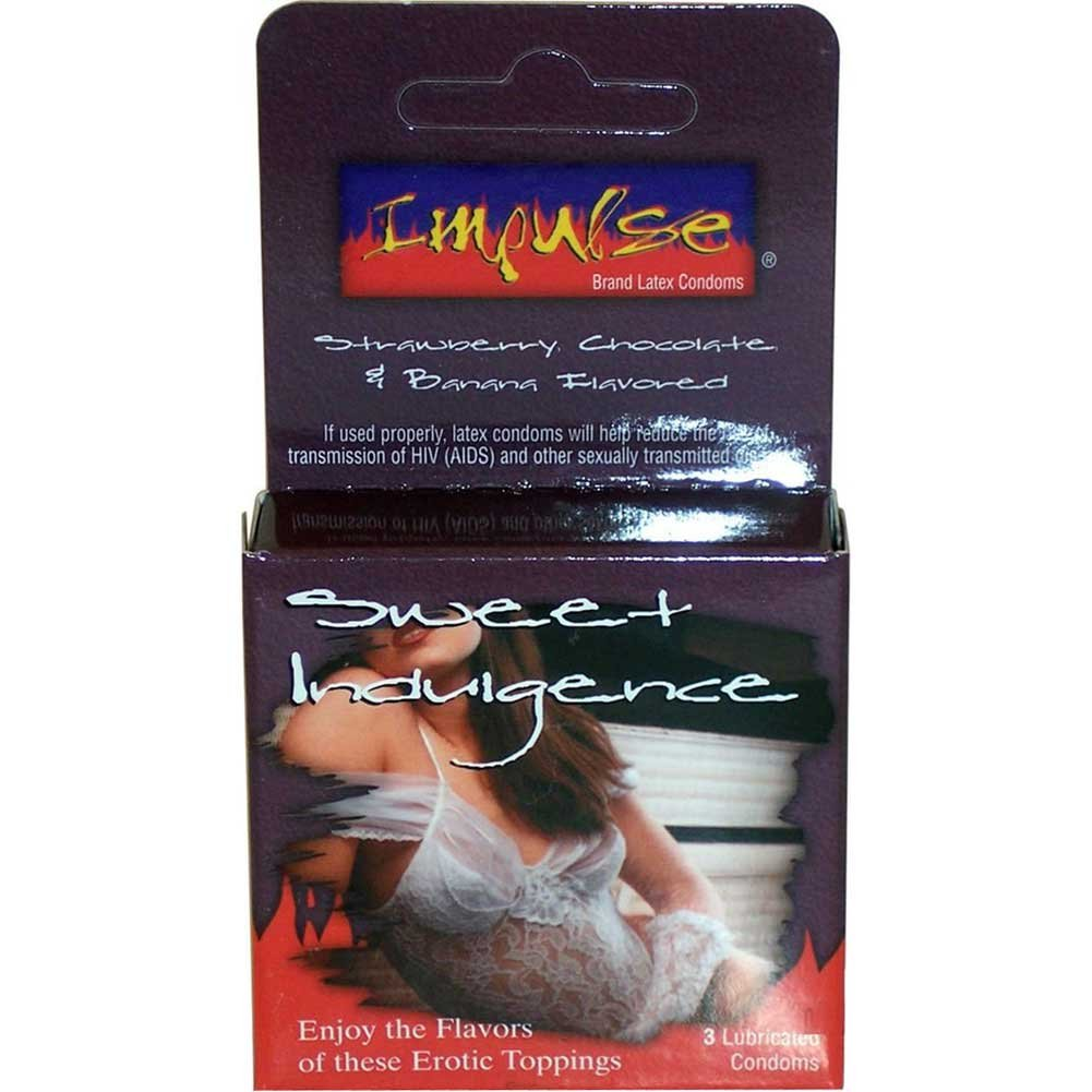 Topcat Impulse Sweet Indulgence Flavored Lubricated Condoms Pack of 3 - View #1