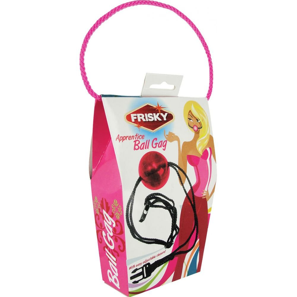 """Frisky Apprentice Ball Gag with Adjustable Straps 1.91"""" Pink - View #1"""