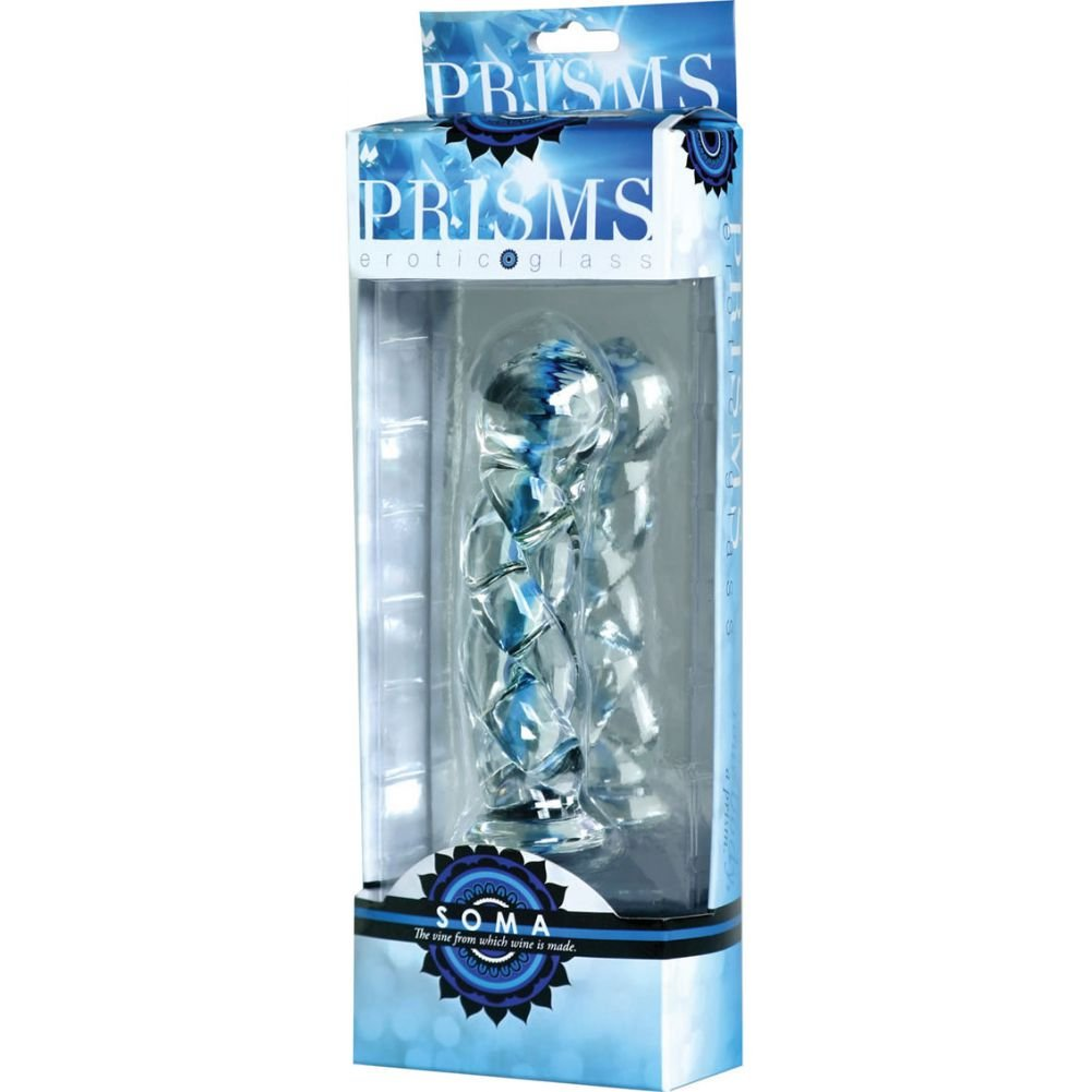 "XR Brands Prisms Soma Glass Twisted Dildo 5.75"" - View #1"