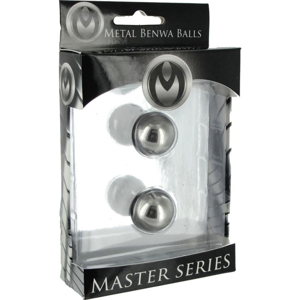 "Master Series Stainless Steel Venus Ben-Wa Balls 0.75"" Silver - View #1"