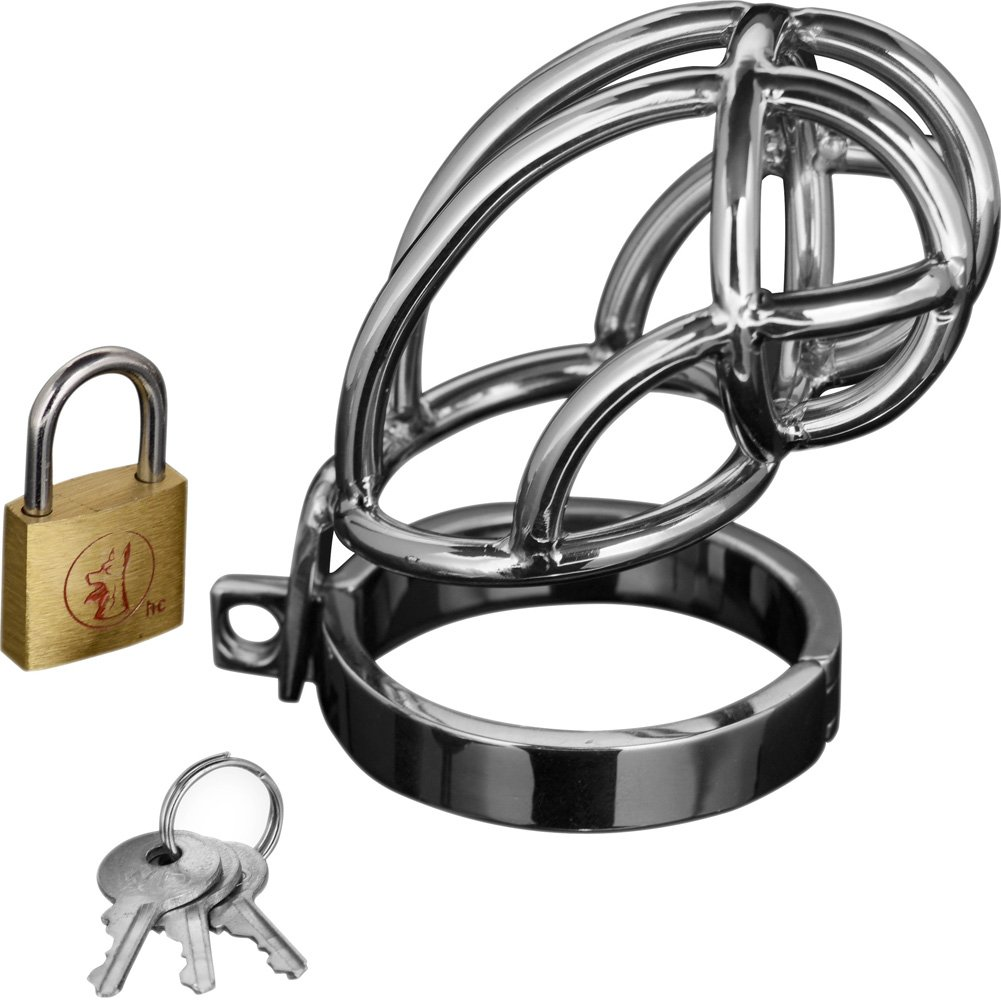 Master Series Captus Stainless Steel Chastity Cage Out Mid June - View #2
