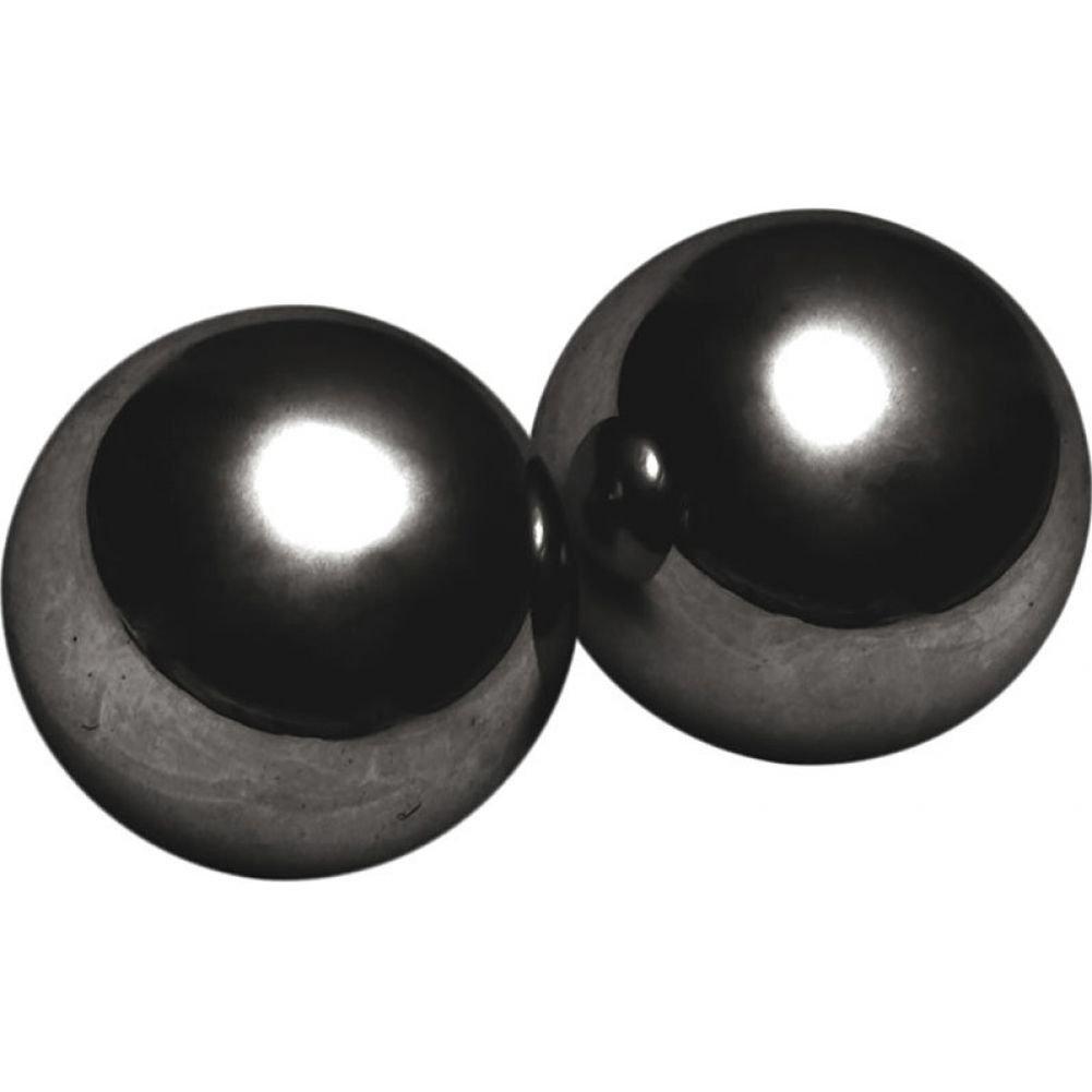 "XR Brands Master Series Magnus 1 Magnetic Kegel Balls 1"" Grey - View #2"