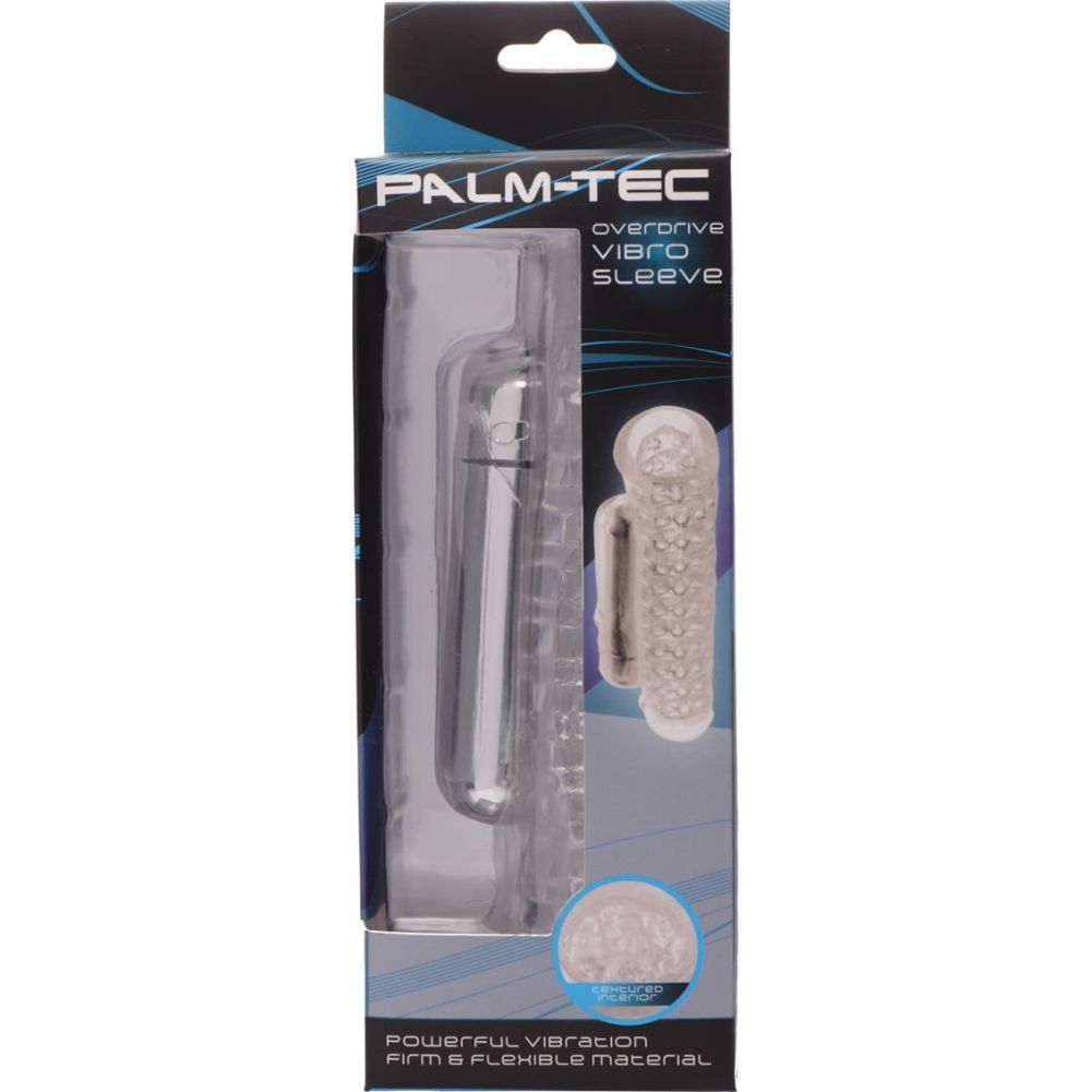 Palm Tec Overdrive Vibrating Masturbation Sleeve for Men Clear - View #4