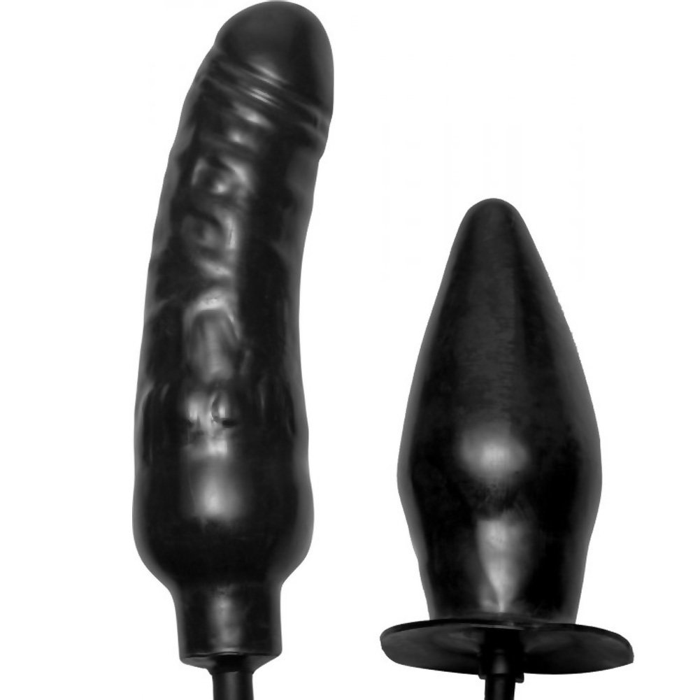 Deuce Double Penetration Inflatable Dildo and Anal Plug - View #4