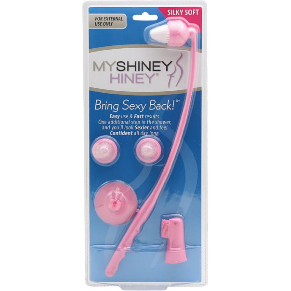 My Shiney Hiney Silky Soft Bristle Cleaning Kit Coral - View #1